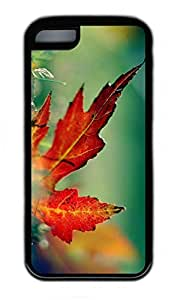 iPhone 5C Case, Personalized Protective Rubber Soft TPU Black Edge Case for iphone 5C - Autumn Scenes 15 Cover
