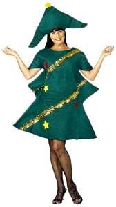 Smiffys-28265 Disfraz de árbol de Navidad, con túnica y Gorro, Color Verde, Tamaño único (SmiffyS 28265): Amazon.es: Juguetes y juegos