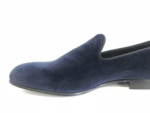 2018 Venta Online Gran Venta MORESCHI pantofolina Uomo in Velluto Blu Fondo Cuoio Profesional Para La Venta V7osSnqa