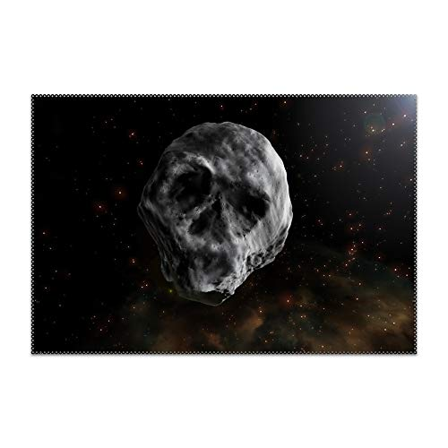 FLOOM Skull-Shaped Asteroid Heat-Resistant Placemats Stain Resistant Anti-Skid Table Mats Set of -