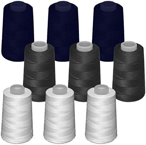 9 conos de hilo de poliester, especiales para máquinas de coser y ...