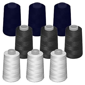 9 conos de hilo de poliester, especiales para máquinas de coser y remalladoras: Amazon.es: Hogar