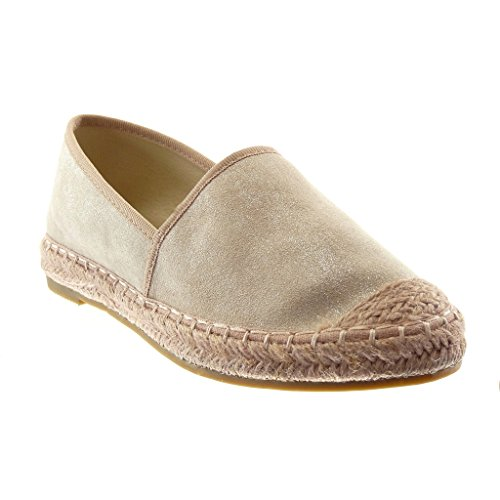 Angkorly Women's Fashion Shoes Espadrilles - Slip-On - Cord - Braided Block Heel 2 cm Pink
