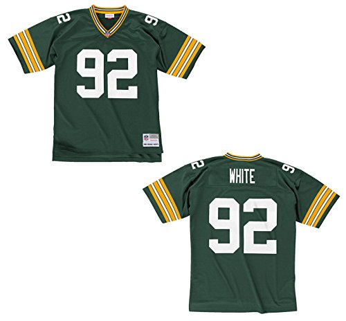 Green Bay Packers Mitchell & Ness 1996 Reggie White #92 Replica Throwback Jersey (L)