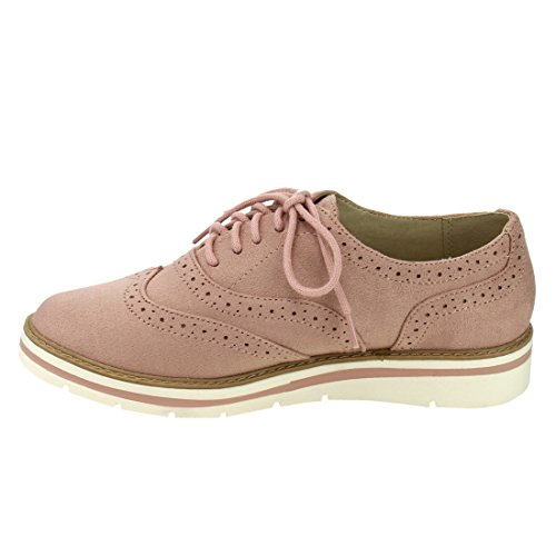 Soda White Bottom Damen Oxford Schuhe Mauve