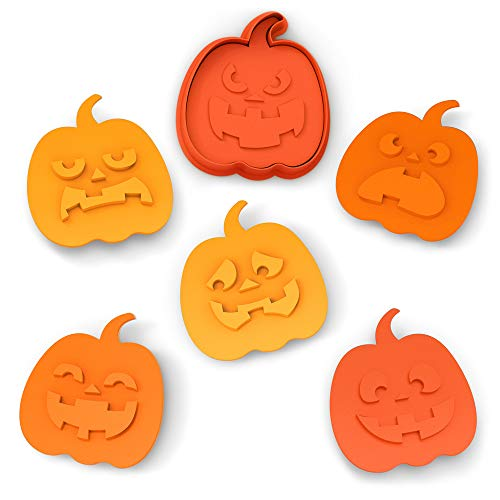 Fred SNACK-O-LANTERN Cookie Cutter/Stampers, Set of 6 -