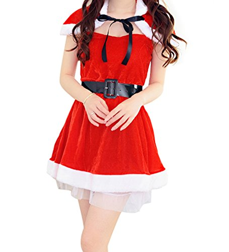 YeeATZ Red Hat Shawl Christmas Party Cosplay Suit (Homemade Werewolf Costume)