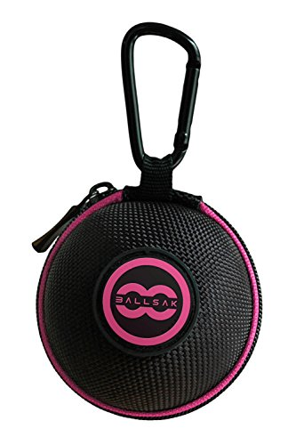 Ballsak Sport - Pink/Black - Clip-on Cue Ball Case, Cue Ball Bag for Attaching Cue Balls, Pool Balls, Billiard Balls, Training Balls to Your Cue Stick Bag EXTRA STRONG STRAP DESIGN! by Ballsak