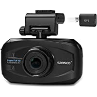 [UPGRADED] SANSCO 2K Extreme HD 1296P Car Dash Cam with GPS Tracking, 3-Inch Screen In-Car Dashboard Camera with Mapping/Route/Speed Alerts - Ambarella Chip Up to 167-degree Fahrenheit