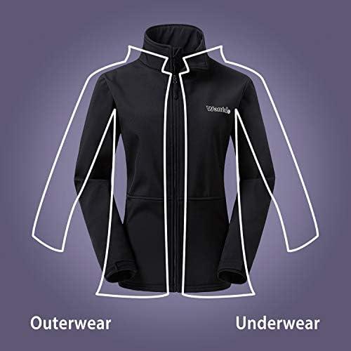 Wantdo Women's Windproof Softshell Jacket Insulated Spring Autumn Windbreaker