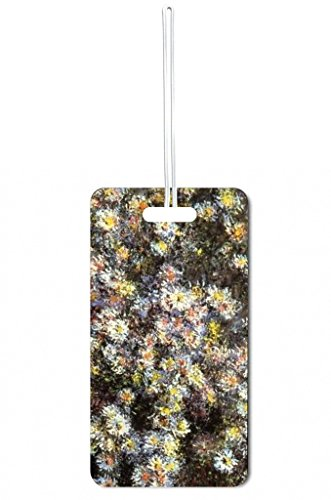 Artist Claude Monet's Asters Lea Elliot Set of 5 Luggage Tags with Customizable (5 Piece Set Medium Arch)