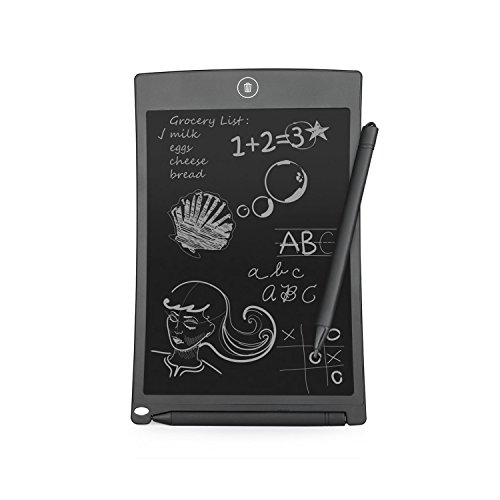 IVSO 8.5-inch LCD Writing Tablet Rewritten Digital Drawing and Writing Paperless Notepad with Easy Magic Eraser - Great for Adults, Kids and Students at Home, School or Office (Black) by IVSO