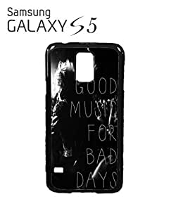 Good Music For Bad Days Mobile Cell Phone Case Samsung Galaxy S5 White