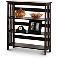 Mission Style Contemporary Cappuccino Espresso Book Shelf / Case Bookcase Bookshelf - Great for Rvs and Boats!