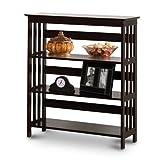 Cheap Mission Style Contemporary Cappuccino Espresso Book Shelf / Case Bookcase Bookshelf – Great for Rvs and Boats!
