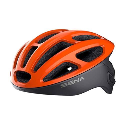 Sena R1 Smart Cycling Helmet (Electric Tangerine, Medium)