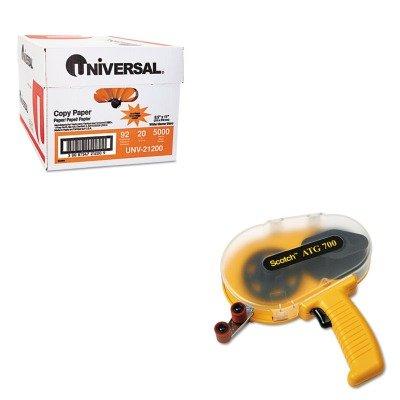 (KITMMMATG700UNV21200 - Value Kit - Scotch Adhesive Transfer Tape Applicator (MMMATG700) and Universal Copy Paper)