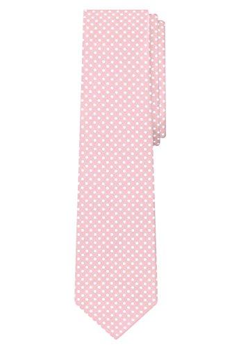 Jacob Alexander Polka Dot Print Men's Reg Polka Dotted Tie - Light Pink