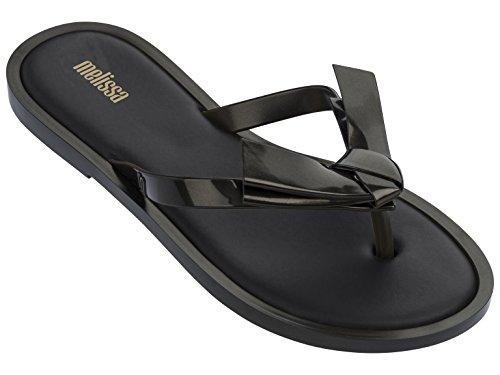 Melissa Shoes Womens Comfy Black Petrol 9 M (Bow Comfy)