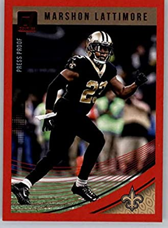 2018 Donruss Press Proof Red  197 Marshon Lattimore Saints Football Card b866ece1e