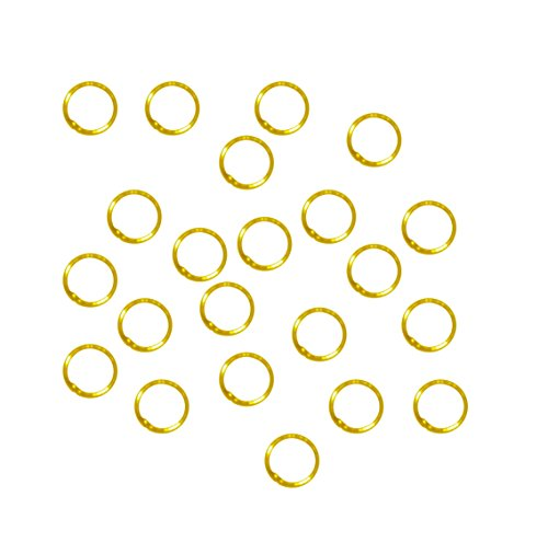 Rockin Beads Soldered Closed 100 Jump Rings, Gold Plated, 8mm Round, 21 Gauge (Round Closed Ring)