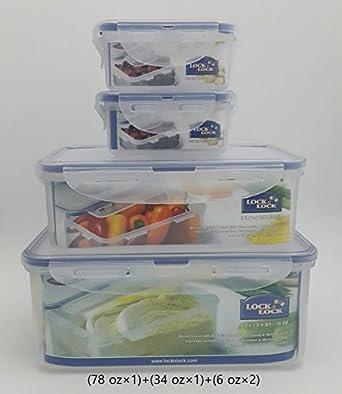 Lock U0026 Lock Plastic Food Storage Airtight Container With Lid Set