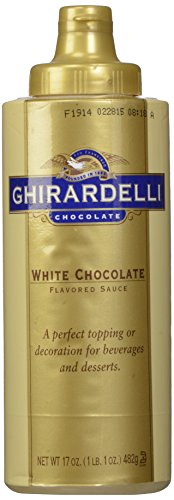 Ghirardelli White Chocolate Sauce 17oz Squeeze bottle Monin White Chocolate Sauce