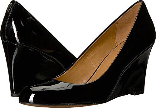 Coach Women's Roni Black Leather 8.5 M (Coach Shoes Wedges)