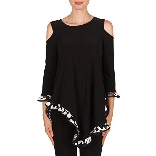 Joseph Ribkoff Black Sleeveless Silver Studed Tunic Style 174063 Size 2