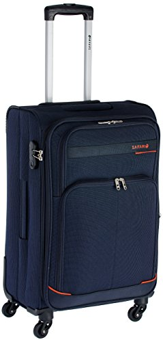 Safari Polyester 65 cms Navy Blue Soft-sided Suitcase (MAASAIMARA-65-Navy-Blue-4WH)