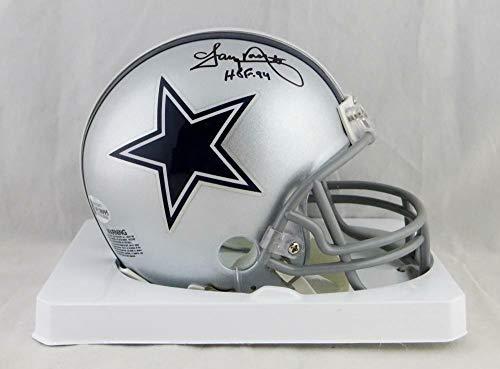 (Tony Dorsett Autographed Signed Dallas Cowboys Mini Helmet with Hof- Beckett Auth - Certified Signature)