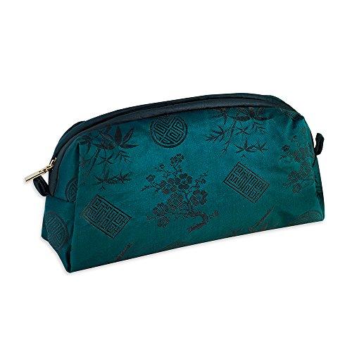 Blossom Peacock - Cosmetic Bag - Silk Jacquard (Peacock)