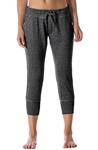 icy zone Women's Active Joggers Sweatpants – Athletic Yoga Lounge Capris with Pockets – DiZiSports Store