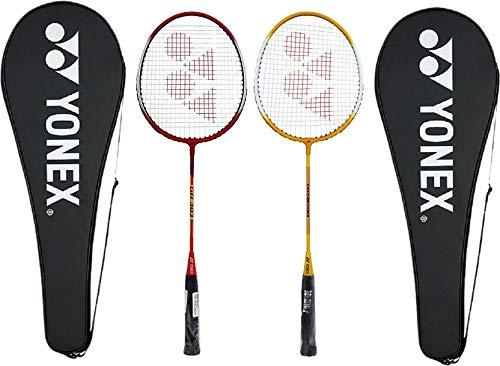 Yonex GR 303 Aluminum Blend Badminton Racquet with Full Cover, Set of 2