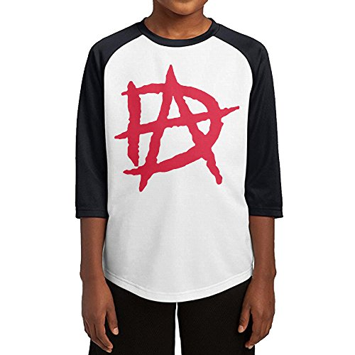 Bray Wyatt Costume (GUYT Youth Boys Dean Ambrose Logo Raglan Tee Baseball Shirt Black Size L)