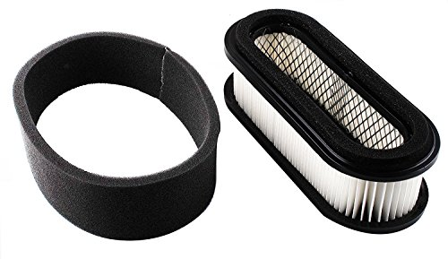 Podoy GX345 Air Filter Pre Filter Combo for John Deere LX279 F725 F710 Front Kawasaki 11013-2205 11013-2114 11013-2115 11029-2001 11029-2017 Lawn Mower
