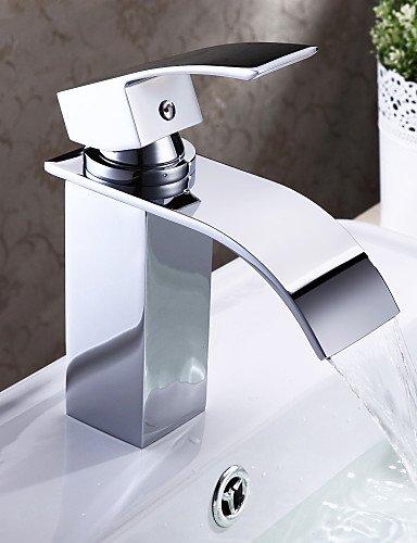Waschbecken Wasserhahn Zeitgenössische Design WasserfaÖl (verchromt)