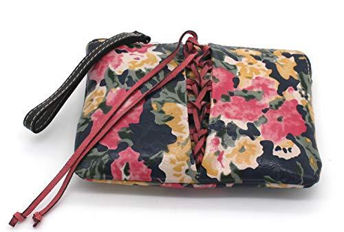 Patricia Nash Cassini Secret Garden Multi Colored Floral Leather Wristlet