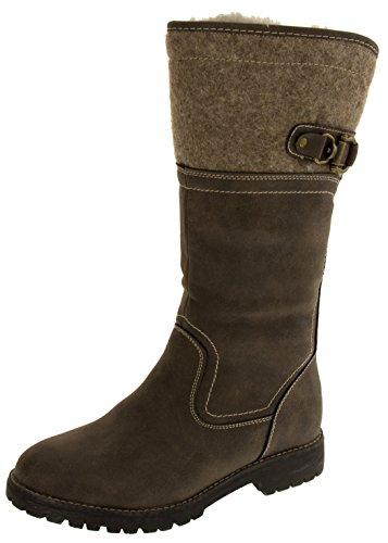 Footwear Studio Keddo Bottes Simili-Cuir Mi-Mollet Femmes Brun mGMDNoFnIM