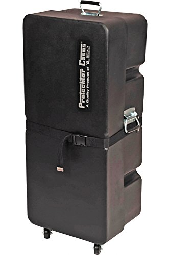 (Gator Cases Protechtor Series Classic Compact Drum Hardware Accessory Case Upright with (4) Wheels; 36