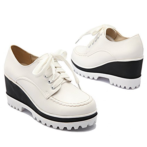 White Ladies BalaMasa Walking Wedges Shoes Platform Urethane Bandage P10qHp