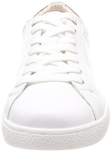 rose white 23631 Met Tamaris Basses Sneakers Femme Blanc 8pPSqY