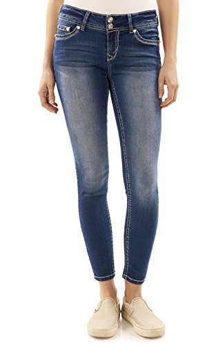 WallFlower Juniors Luscious Curvy Bling Skinny Jeans In Addison, 0 Juniors Embellished