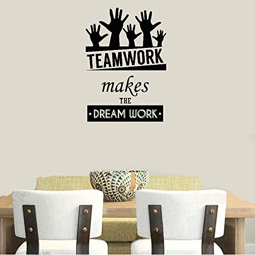 Wall Stickers Art Decor Decals Team Work Makes The Dream Work for Office Home -