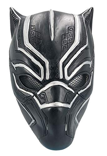 Black Panther Mask Latex Face Helmet Decoration Theme Party Props Halloween Costume Accessory Adult]()