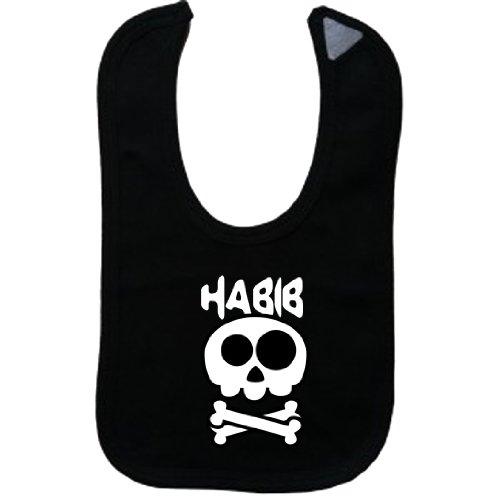habib-vintage-skull-and-bones-name-series-black-bib