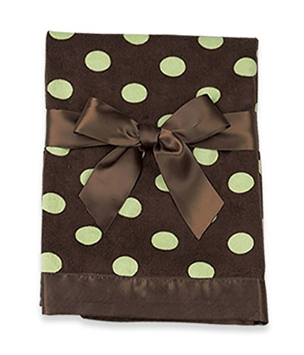 "Bearington Baby Polka Dot Snuggle Blanket (Brown & Green) 28.5"" x 28.5"""