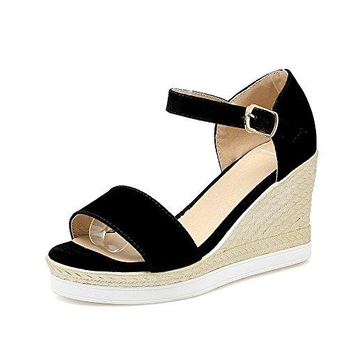 Zapatos de Mujer de Cuero Sandalias de Confort de Verano Tacón de Aguja Peep Toe para Oficina y Carrera Rojo, Negro, Gris Un