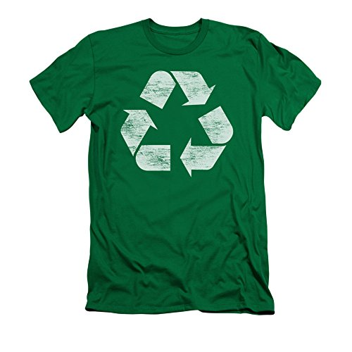 Reduce Reuse Recycle Sign Adult Slim T-Shirt Tee