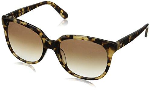 Kate Spade Women's Bayleigh Oval, Camel Tortoise, 55 - Kate Spade Tortoise Sunglasses